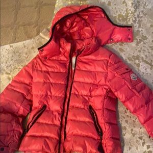 Hot Pink Moncler girls coat size 10